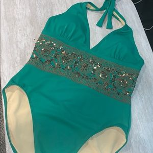 a73bd1c0573b5 Gorgeous Shape FX Halter One Piece Swimsuit
